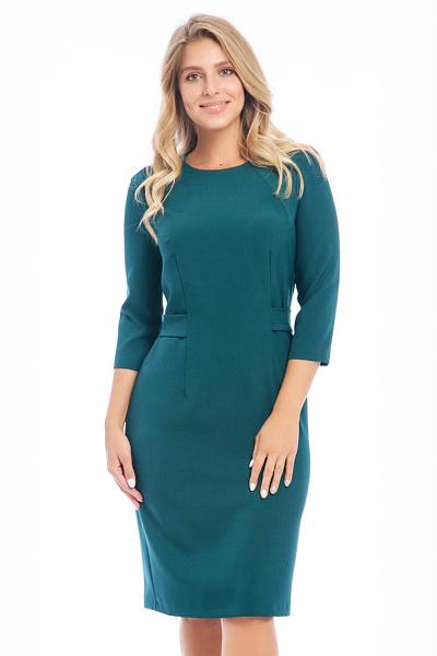 Платье однотонное П-483