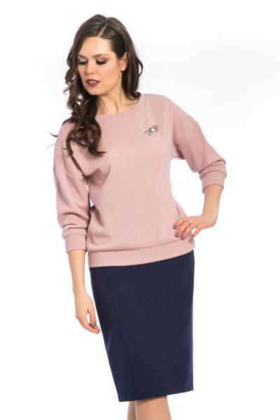 Блуза пудрового цвета, Б-196